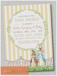 rabbit invitation baby shower invitation lovely beatrix potter rabbit baby