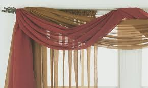 kitchen window valance ideas scarf valance window treatment ideas