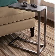 c sofa table era c shaped accessory side table from crate barrel