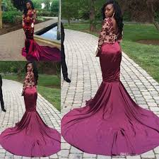 dresses for prom sleeve mermaid prom dresses wine silk satin chapel