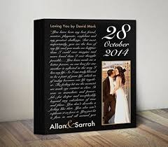 wedding gift to husband personalized canvas custom anniversary gift song