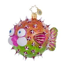 christopher radko ornaments 2014 radko always puff a fish