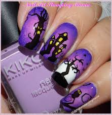 nail art stamping mania halloween manicure with uberchic beauty plate