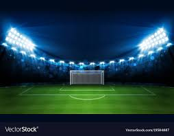 how tall are football stadium lights football arena field with bright stadium lights vector image