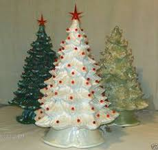 porcelain christmas tree with lights vintage atlantic mold flocked lighted ceramic christmas tree 16