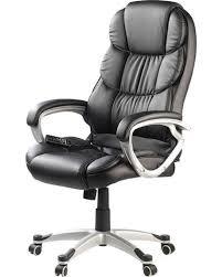fauteuil de bureau fauteuil de bureau massant avec roulettes et 8 programmes de