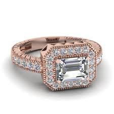 vintage east west diamond engagement ring in 950 platinum