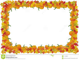 thanksgiving day autumnal vector frame stock vector illustration