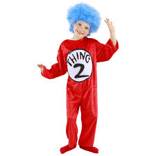 halloween costumes for kids target dr seuss thing 1 and thing 2 child halloween costume walmart com