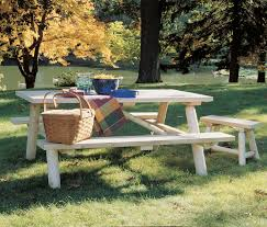 Plans For Picnic Table With Detached Benches by Lifetime Rustic Outdoor Folding Picnic Table Made From Cedar Wood