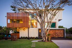 Artsy 3Storey Home Built from 31 Shipping Containers