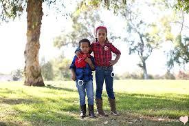 Kids Cowgirl Halloween Costume Simple Siblings Costumes Diy Halloween Western Wear Su Mama
