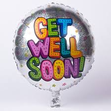 get well soon balloons silver get well soon foil helium balloon card factory