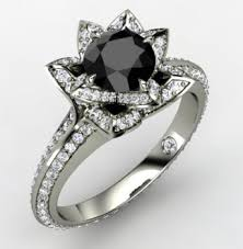 engagement rings with black diamonds striking black engagement rings black ring