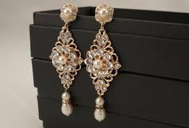 gold earrings for wedding gold dangle earrings gold bridal earrings gold