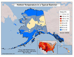 Map Of Alaska And Usa by Brian B U0027s Climate Blog August 2015