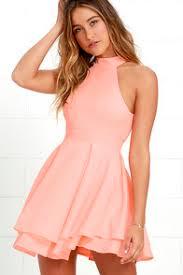 dress pink blush pink dress the shoulder dress skater dress 52 00