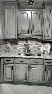 gray glazed white kitchen cabinets give your kitchen a whole new look without spending
