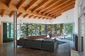 waterside home design features custom douglas fir millwork