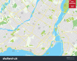Canada City Map by Vector Color Map Montreal Canada City Stock Vector 584477107