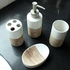 bathroom accessories kit banheiro banyo aksesuarlari chocolate