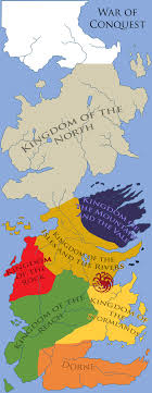 7 kingdoms map a song of which of the seven kingdoms did the