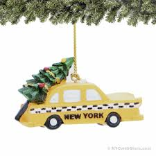 nyc taxi and tree ornament taxi and tree