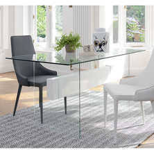 Glass Dinner Table Dining Tables Contemporary Dining Room Furniture From Dwell