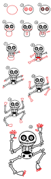 how to draw a skeleton art for kids hub skeletons drawings