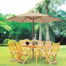 10 Ft Patio Umbrella by 8 U0026 039 9 U0026 039 13 U0026 039 Outdoor Patio Wood Umbrella Wooden Pole