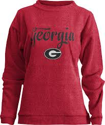 Uga Home Decor by Uga Pressbox Comfy Terry Crew Red