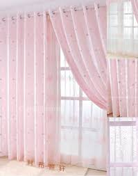 Sheer Pink Curtains Interior Lovely Pink Curtains For Girls Bedroom Offers Cute And