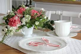 foxy image of dining table decoration using white porcelain tea