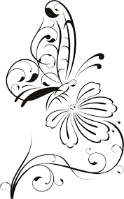 simple drawing of flowers and butterflies great drawing