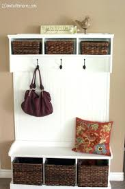 threshold bench with cubbies diy entryway locker and bench cubby