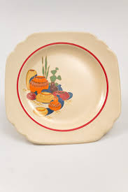 homer laughlin vintage 1938 vintage mexicana decalware bread and butter plate