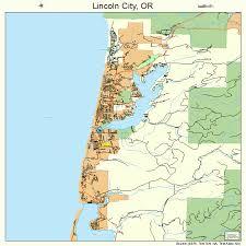 lincoln city map lincoln city oregon map 4142600