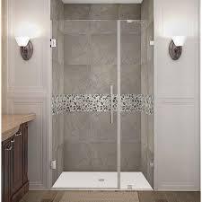 40 Shower Door Aston Nautis 40 In X 72 In Frameless Hinged Shower Door In