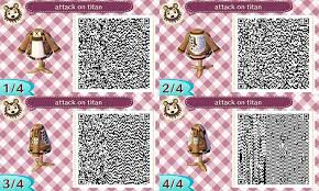 design attack attack on titan animal crossing qr code by blackberrininja