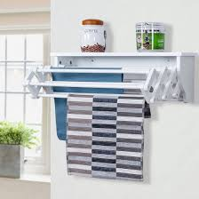 Laundry Room Storage Shelves Costway Wall Mounted Drying Rack Folding Clothes Towel Laundry