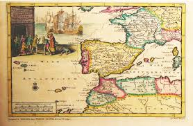 Portugal Spain Map by Antiquemaps Fair Map View Rare Old Antique Map Of Spain And