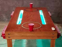 Custom Beer Pong Tables by Custom Beer Pong Table Furniture Drinking Game Gaming