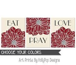 amazon com eat pray love wall art dining room wall decor