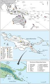 Map East Asia by Sample Location Map Showing South East Asia Australia New Guinea