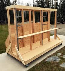 Mobile Lumber Storage Rack Plans by Ana White Build A Ultimate Lumber And Plywood Storage Cart