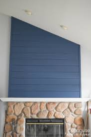 Feature Wall by How To Create A Fireplace Wood Feature Wall A Modern Shiplap