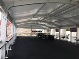 Building A Tent Platform by Clearspan Tent Structures In The La Coliseum