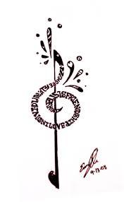voodoo heart tattoo 40 best treble bass clef heart tattoo rose images on pinterest