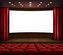 Movie Drapes Movie Theater Curtains Cinema Theater Open Luxury Red Silk Stage