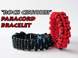 paracord bracelet youtube images How to make a quot rock crusher quot paracord survival bracelet by jpg